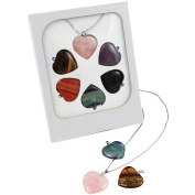 Interchangeable Gemstone Heart Pendants