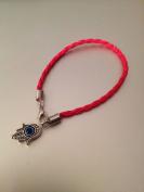 Kabbalah Red String Bracelet Against Evil Eye with Hamsa Hand