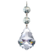 CrystalPlace 1 Piece Diamond Hanging Crystal Garland Wedding Strand with 2 Beads and Prism Pendant Accent