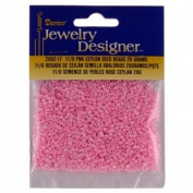 11/0 Glass Seed Beads, Ceylon, Pink, 20 Gramme Pkg