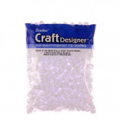Pony Beads, White Pearl, 6 X 9mm, 480pc Pkg