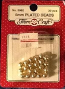 6mm Round Plated Craft Beads - Gold - 20 Pcs/pkg - #8960