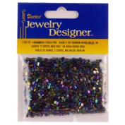 10/0 Seed Beads, 2 Cut Rainbow, Black, 20 Gramme Pkg
