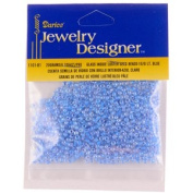 10/0 Seed Beads, Inside Colour Lustre, Lt Blue, 20 Gramme Pkg