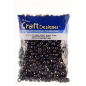 Pony Beads, Black Pearl, 6 X 9mm, 480pc Pkg