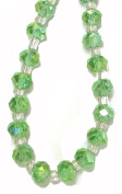 Bead Collection 40422 Glass Faceted Peridot Rondel Beads, 20cm