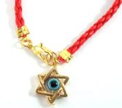 Star of David Magen David Kabbalah Red Leather Thread String Bracelet Evil Eye