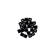6x6 Glass Square Black Beads