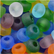 Czech Seed Beads 6/0 Mix Rainbow Matte Clear Multi