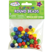 Craftwood Assorted Round Beads, 10mm-16mm, 60pk