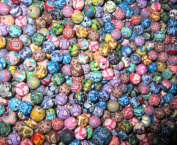 100 Fimo Polymer Clay Round Beads Variety Size 8mm