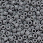 Toho Round Seed Beads 8/0 #53 'Opaque Grey' 8 Gramme Tube