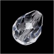 Czech Fire Polish Glass Beads 10mm x 12.5mm Teardrop Crystal