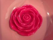 45mm Hot Pink Flower Bead