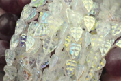 25 Crystal AB Czech Glass Leaf Beads 10MM