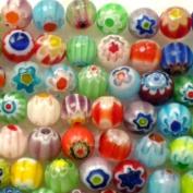 Adored 65pcs MIX Millefiori Flower Lampwork Glass Round Beads 6mm ~ Jewellery Findings ~