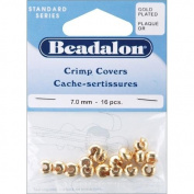 Beadalon Gold Crimp Covers-7mm-16/Pkg