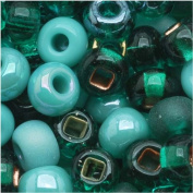 Czech Seed Beads 6/0 Mix Turquoise Fetish Blue Green
