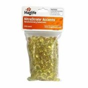 Maglife Usa AMX70104 250-Pack AMX NitraStrate Polymer Marine Aquarium filter Substrate Beads, Yellow