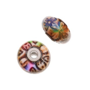 Mirage Colour Changing Mood Beads - Rosy-Posy Round Spacer Beads 12mm