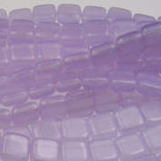 Czechmate 6mm Square Glass Czech Two Hole Tile Bead - Milky Alexandrite