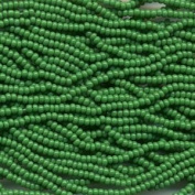 Czech Rocailles Seed Bead 11/0 Opaque (1 Hank Pack) GREEN 915011