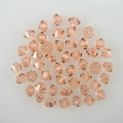 48 4mm. crystal bicone 5301 Lt Peach beads
