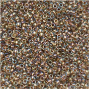Toho Round Seed Beads 15/0 #994 'Gold Lined Rainbow Crystal' 8 Gramme Tube