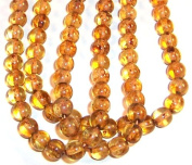 6mm Round Czech Glass Druk Beads - Crystal Picasso 50pc