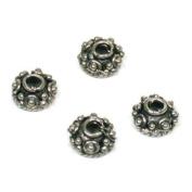 4 Bali Bead Caps Cone Beading Stringing 6.5mm Parts