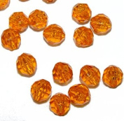 JOLLY STORE Crafts 8mm Faceted Beads Light Topaz Colour, 500pcs