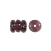 Czech Pressed Glass Bead 6 x 2mm Rondelle Spacer AMETHYST PURPLE (50) 915179