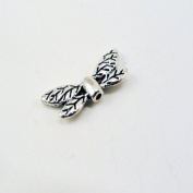Silver Plated Dragonfly Wing Beads