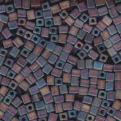 20 Grammes Frosted Rainbow Dark Amber Ab Matte Miyuki 4mm Square Cube Japanese Glass Seed Beads