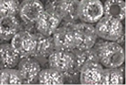 SILVER SPARKLE GILTTER CROW BEADS PONY BEADS
