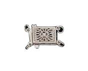 Filigree Necklace Clasp - 14K White Gold