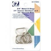 Wrights 37D-N Metal D-Rings, 1.9cm , Nickel