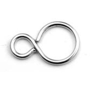 Chainology 100 Percent Rhodium-Plated Rings #9
