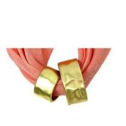 Fashion Jewellery ~ Goldtone Loop Circle Scarf Charm Pendant