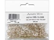 Artistic Wire 18 Gauge Jump Ring, Diameter 0.6cm , Tarnish Resistant Silver, 240-Piece