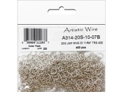 Artistic Wire 20 Gauge Jump Ring, Diameter 0.4cm , Tarnish Resistant Silver, 400-Piece