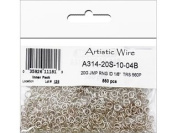 Artistic Wire 20 Gauge Jump Ring, Diameter 0.3cm , Tarnish Resistant Silver, 560-Piece