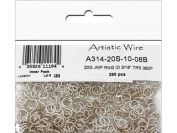 Artistic Wire 20 Gauge Jump Ring, Diameter 0.5cm , Tarnish Resistant Silver, 390-Piece