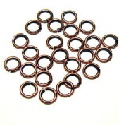 "SNAPEEZ® ""The Snapping Jump Ring"" - SNAPEEZ® II ULTRAPLATE® Bella Flamed Copper Ring Hard Open Jump 10mm Heavy Gauge"