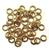 "SNAPEEZ® ""The Snapping Jump Ring"" - SNAPEEZ® II ULTRAPLATE® 24 kt. Gold Ring Hard Open Jump 8mm Heavy Gauge"