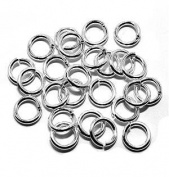 "SNAPEEZ® ""The Snapping Jump Ring"" - SNAPEEZ® II ULTRAPLATE® 99.9% Shiny Silver Ring Hard Open Jump 12mm Heavy Gauge"