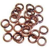 "SNAPEEZ® ""The Snapping Jump Ring"" - SNAPEEZ® II ULTRAPLATE® Bella Flamed Copper Ring Hard Open Jump 14mm Heavy Gauge"