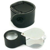 10x Round Eye Loupe Jewellers Gem Folding Magnifier 21mm