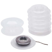 No Tangle Flexible Plastic Thread Bobbins For Kumihimo Or Macrame 6.4cm