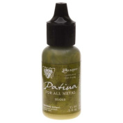Vintaj Patina Opaque Permanent Ink - Moss Green - 15ml Bottle
